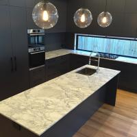 Kitchen with Super White Quartzite