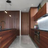 Kitchen with stone top